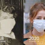 1918 influenza panedmic masks versus COVIC 2020 masks